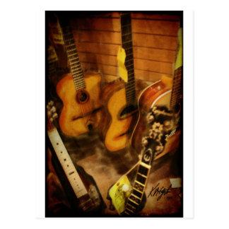 Aguarela das guitarra cartão postal