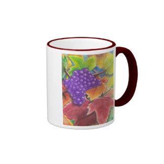 Aguarela das uvas canecas
