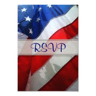 Aguarela de suspensão da bandeira americana convite 8.89 x 12.7cm