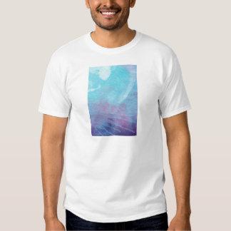 Aguarela design abstrato azul & do roxo da pintura camiseta