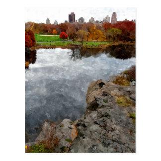 Aguarela do Central Park Cartão Postal