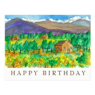 Aguarela do deserto do outono que pinta o feliz cartão postal