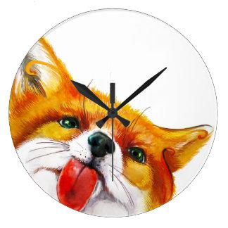 Aguarela do Fox Relógios Para Paredes