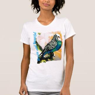 Aguarela do Parakeet de Petie T-shirts