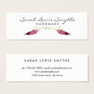 Aguarela floral cartão de visitas mini