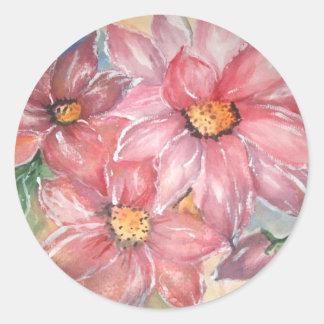 aguarela flores adesivo