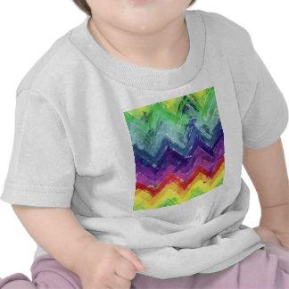 Aguarela geométrica do ziguezague camiseta