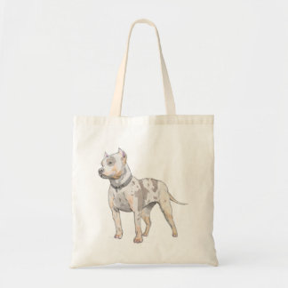 Aguarela que está a ilustração alta do pitbull bolsa tote