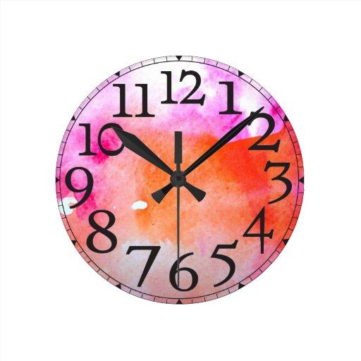 Aguarela Relógio De Parede
