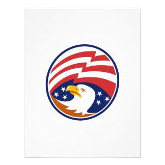 Águia americana americana com bandeira convite personalizados