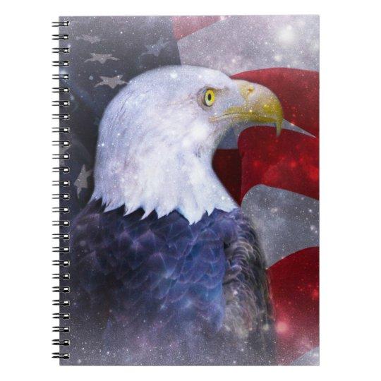 Águia americana caderno