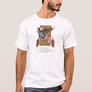Águia americana da bandeira dos E.U. do foguete Camiseta
