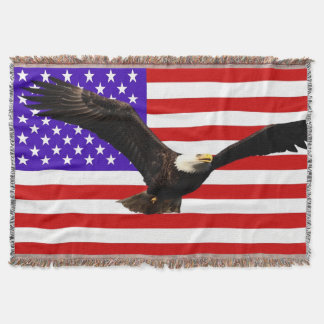 Águia americana EUA da bandeira de América Manta