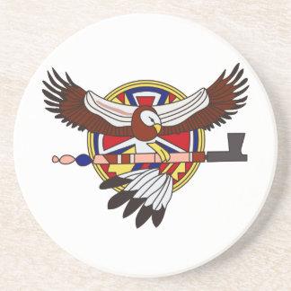 Águia do nativo americano porta copos de arenito