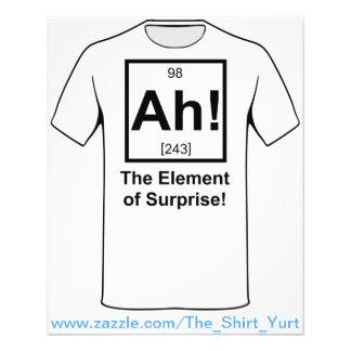 Ah o elemento do símbolo periódico do elemento da flyer 11.43 x 14.22cm