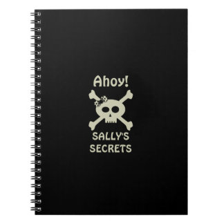 Ahoy! Caderno espiral secreto do pirata bonito