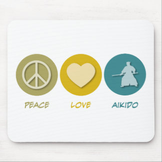 Aikido do amor da paz mouse pad
