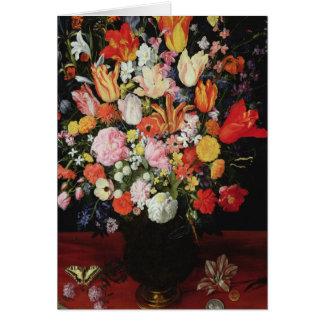 Ainda vida das flores 1610s cartoes