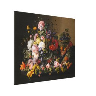 Ainda vida: Flores e fruta por Severin Roesen Impressão Em Tela