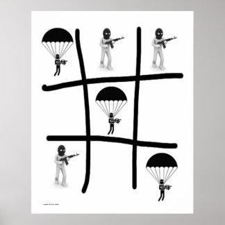 Airborne: Tique Tac Toe Poster