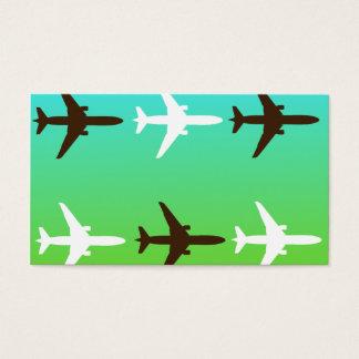 Airplaine retro cartão de visitas