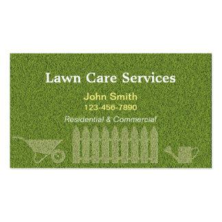Ajardinando a jardinagem do cuidado do gramado cartão de visita