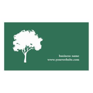 Ajardinar branco verde minimalista da árvore cartão de visita