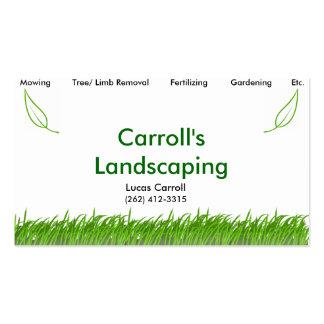 Ajardinar de Carroll Cartão De Visita