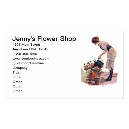 Ajardinar do cuidado da planta de jardinagem da fl cartões de visita