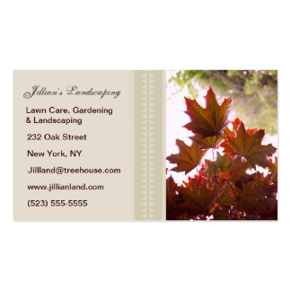 Ajardinar/gramado/cartões de visitas de jardinagem