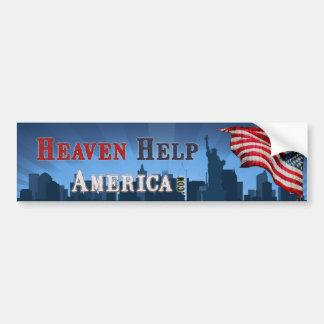 Ajuda América - Bumpersticker do céu Adesivo Para Carro