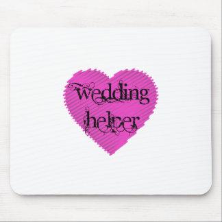 Ajudante do casamento mouse pad