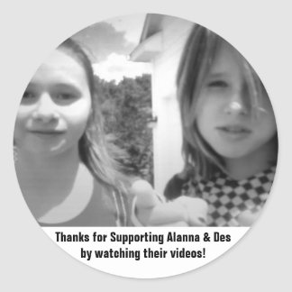 alanna do apoio & etiqueta do DES Adesivo