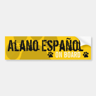 Alano Español a bordo Adesivo Para Carro