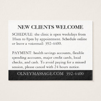 Alaranjado, preto, branco para a massagem e o cartão de visitas