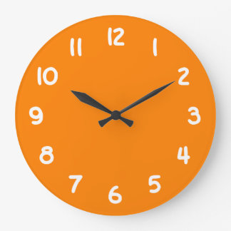 Alaranjado Relógio De Parede