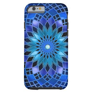 Alargamento azul capa tough para iPhone 6