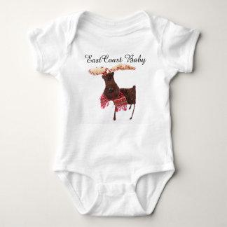 Alces Nova Escócia Canadá do Natal do bebê da Tshirts