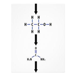 álcool químico ao ícone da uréia modelos de panfleto