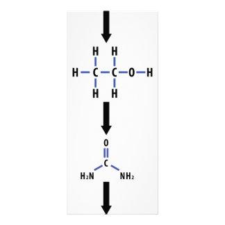 álcool químico ao ícone da uréia panfleto informativo personalizado