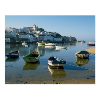 Aldeia piscatória de Ferragudo, o Algarve, Cartão Postal