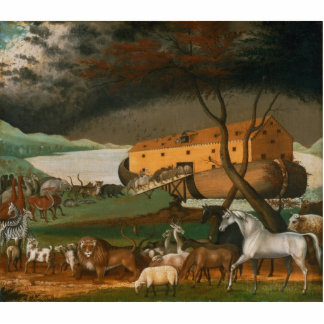 Aldeões de Edward - a arca de Noah Esculturafotos