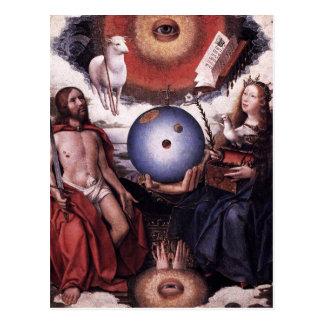 Alegoria da cristandade daqui até janeiro Provoost Cartão Postal