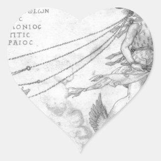 Alegoria da eloquência por Albrecht Durer Adesivo Coração