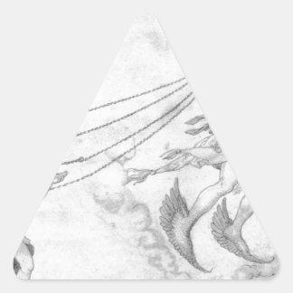 Alegoria da eloquência por Albrecht Durer Adesivo Triangular