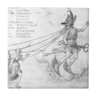 Alegoria da eloquência por Albrecht Durer Azulejo Quadrado Pequeno