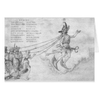 Alegoria da eloquência por Albrecht Durer Cartão Comemorativo