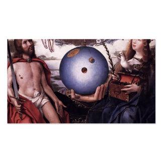 Alegoria de janeiro Provoost- da cristandade Cartões De Visitas