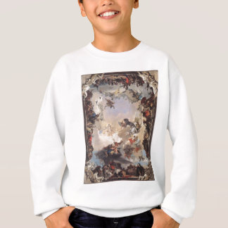 Alegoria dos planetas e dos continentes por camiseta