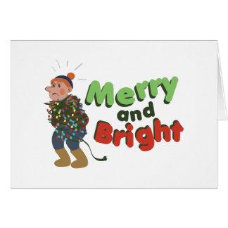 Alegre e brilhante cartão comemorativo